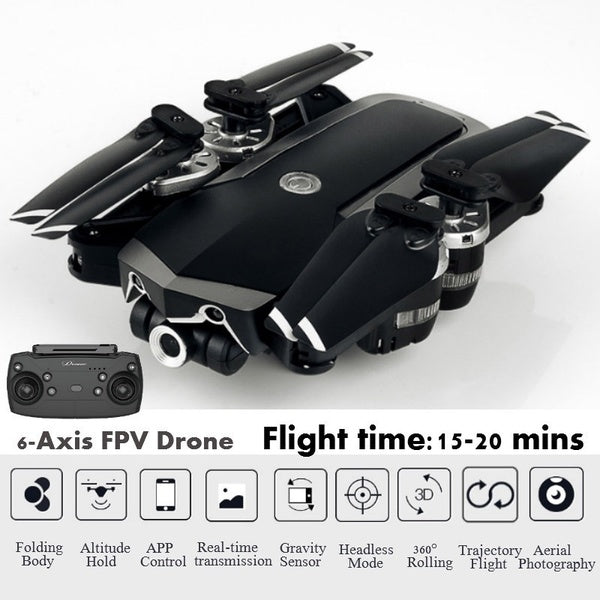 JD20S WiFi FPV 0.3 / 5MP Camera with HD Wide Angle Camera Foldable Drone 480P 720P 1080P