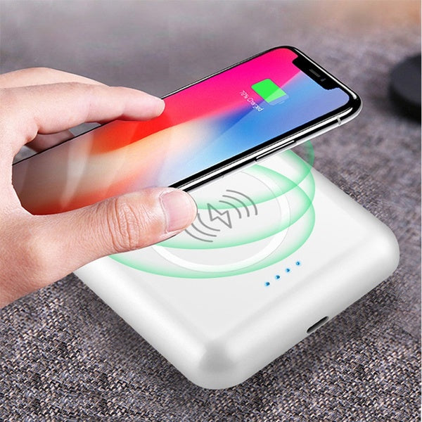 3 IN 1 Portable Power Bank , Wireless Earphone with Charge Case Support Wireless Charger for iPhone