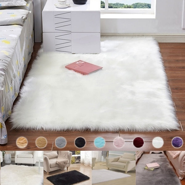 Soft Fluffy Rugs Anti-Skid Shaggy Area Rug For Home