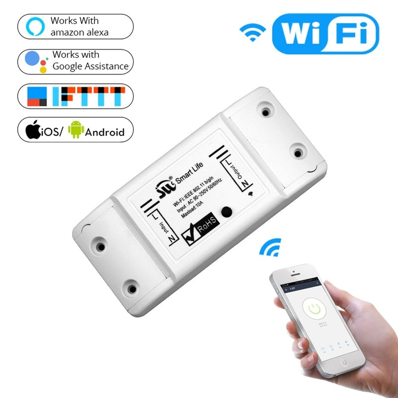DIY WiFi Smart Light Switch Universal Breaker Timer Wireless Remote Control Works with Alexa Google Home Smart Home Module