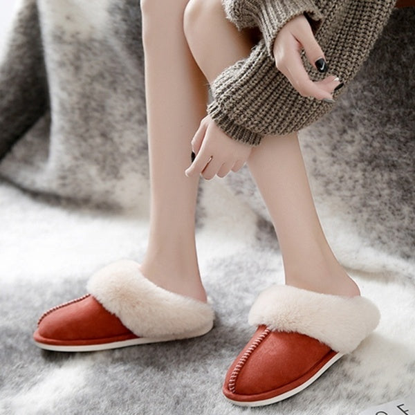 Warm Winter Indoor Slippers Fur Home Shoes