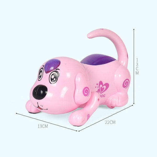 Wireless Remote Control Crawling Rollover Singing Electronic Pet Dog, Early Education Interactive Intelligent Toy