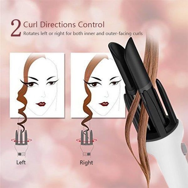 HOT Automatic Gold Ceramic Hair Curler Spiral Hair Curler Roller Professional Big Wave Hair Curling Hair Styling Tools