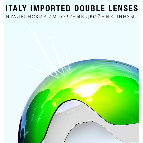 Ski Goggles Double Layers UV Protection Anti-fog Big Ski Mask Glasses Skiing Men Women Snow Snowboard Goggles