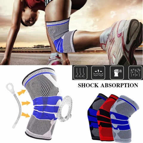 Professional Sports Kneecap Silicone Anti-collision Spring Support Protective Equipment