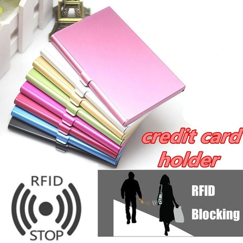 Stainless Steel Pocket Business Rfid Blocking Credit ID Card Case Metal RFID Wallet Holder Box