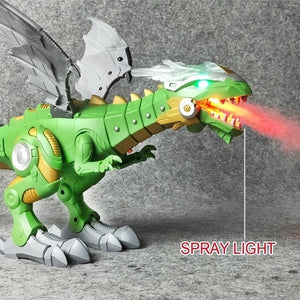 Fire Breathing Robot Dinosaurs Spray Mighty Dragon Walking Multi Action with Sound & Light