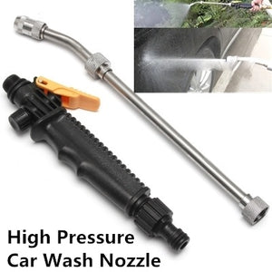 "19"" High Pressure Power Washer Spray Nozzle Water Gun Hose Wand Lance"