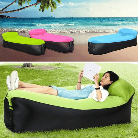 Fast Infaltable Air Sofa Bed Inflatable Air Bag Lazy bag Beach Sofa Laybag