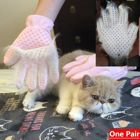 Pet Grooming Glove But Also Fur Remover for Dog and Cat wonderful tools for pets