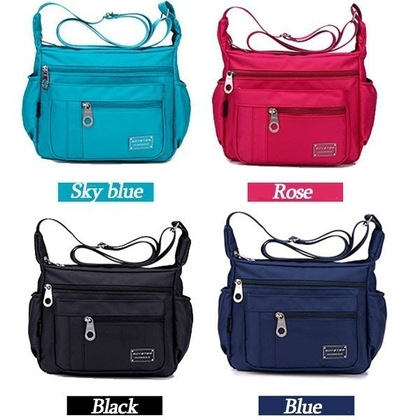 Women Casual Waterproof Messenger Bags Outdoor Nylon Single-shoulder Travel Bag Crossbody Bag Totes Satchels