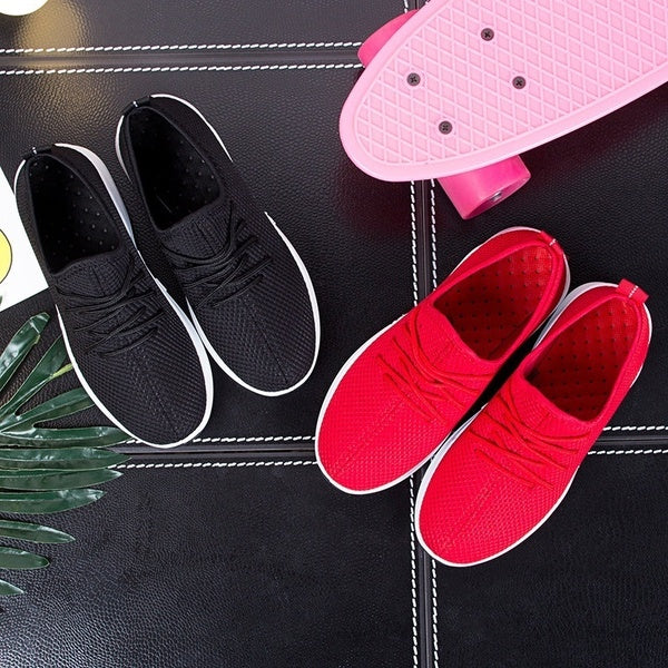 Breathable Mesh Shoes Women's Shoes Little Red Shoes White Sides