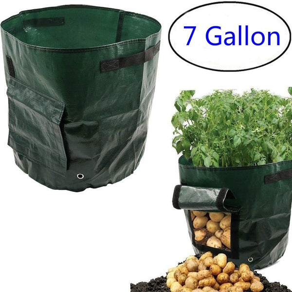 Garden Potato Grow Bag Vegetables Planter Bags with Handles and Access Flap for Potato, Carrot & Onion