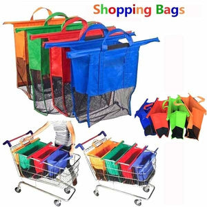 Cart Trolley Supermarket Shopping Bags Foldable Reusable Handbags