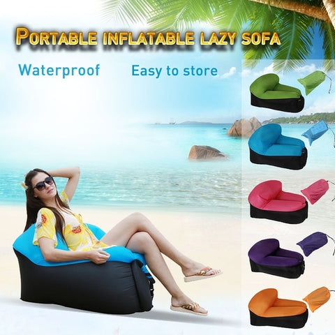 Inflatable Lounger Portable Air Couch Air Sofa Bag