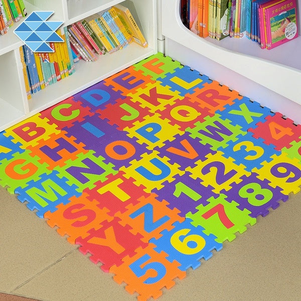 36 Pieces of Digital Letters Children's Puzzle Foam EVA Puzzle Pad Shatter-Resistant