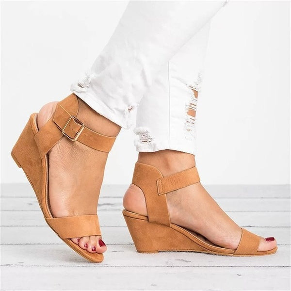 Ankle Straps Wedge Sandals Shoes