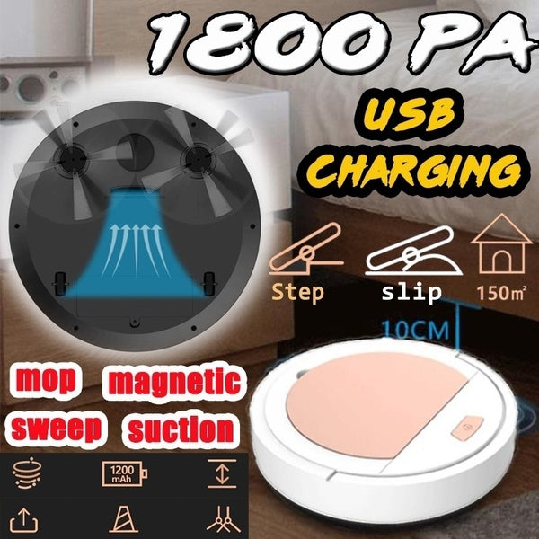 3 In 1 Strong Suction Automatic Rechargeable Sweeping Robot