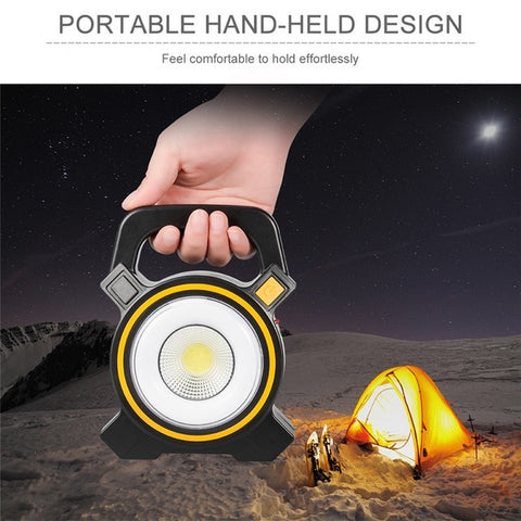 Portable LED Flood Light Flashlight Outdoor COB Work Spot Lamp