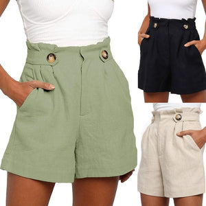 Women's Fashion Solid Summer Casual Short Pants
