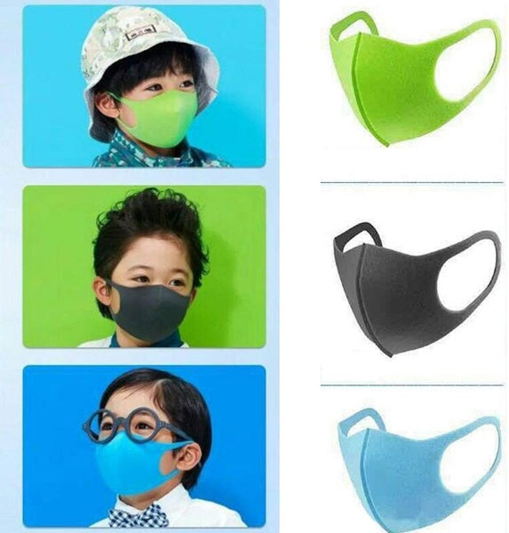 5pcs Kids Washable Colorful Face Covering