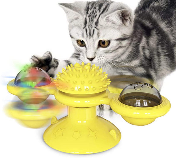 Rotary Windmill Cat Toy - Interactive Cat Toy