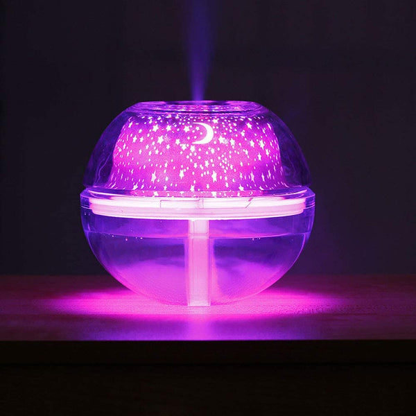 500ML Crystal Night Light Star Projector Ultrasonic Humidifiers