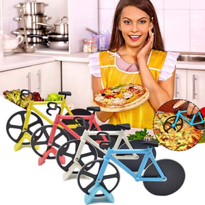 Non-stick Dual Cutting Wheels Stainless Steel Bike Pizza Slicer