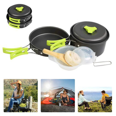 1-2 People Camping Cooking Non Stick Cookware Kit