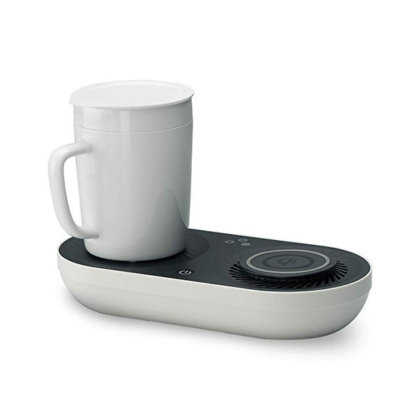 Wireless Qi-Certified Fast Charger with Mug Warmer/Drink Cooler