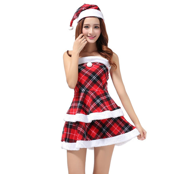 COS Santa Claus Christmas Hat Dress For Nightclub Party