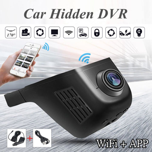WiFI HD Car Driving Recorder Night Vision Camera Video Recorder  Mobile App Control
