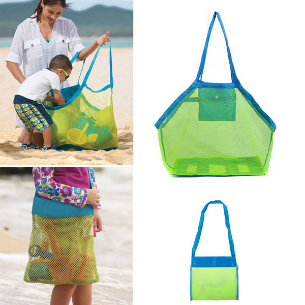 Large Portable Mesh Sand Away bath Bag Dredging Pouch Children's Toys Beach Bag