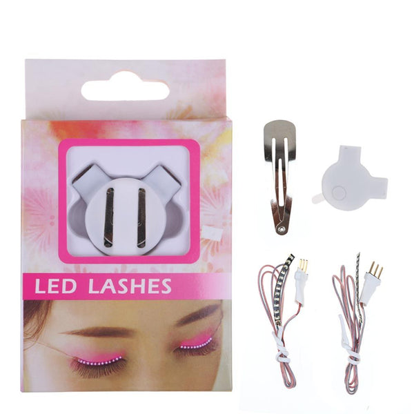 LED Luminous Eyelash Fashion Light Up False Eye Lash Party Icon Club Bar