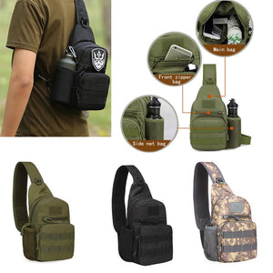 Men Tactical Military Messenger Shoulder Bag Sling Waterproof Chest Bag Outdoor