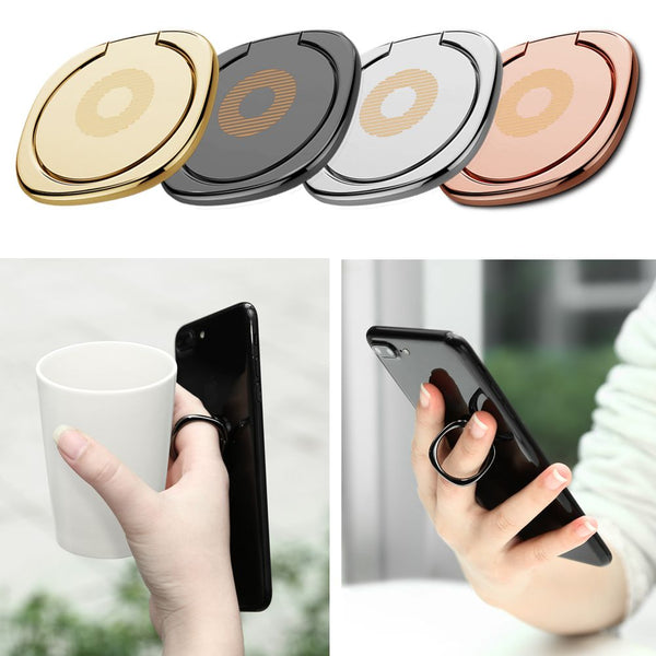 360° Hook Universal Finger Ring Holder Metal Mount Stand For iPhone 6S 7