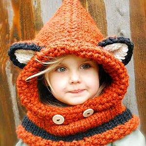 Shawl cap autumn and winter scarf knit hat baby infant child hat