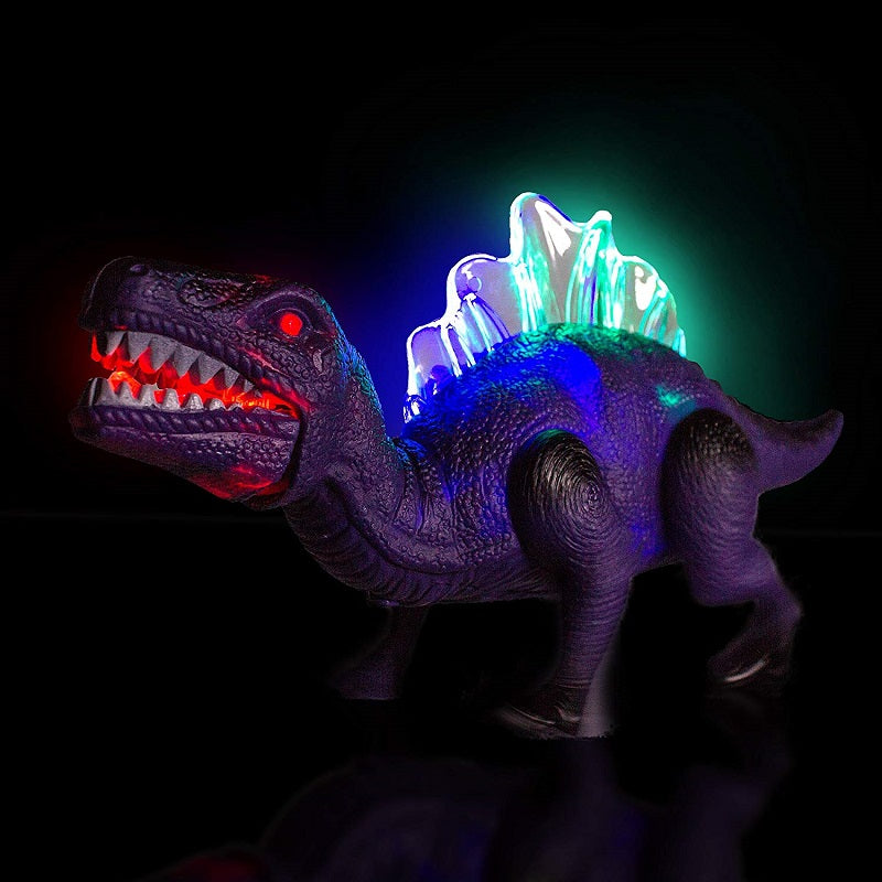 Windy City Novelties LED Light Up and Walking Realistic Dinosaur With Sound