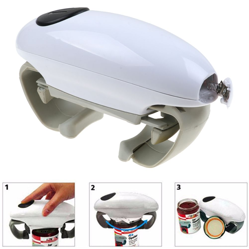 Automatic Electric Jar Opener One Touch Can Tin Opener Kitchen Tools Gadget New