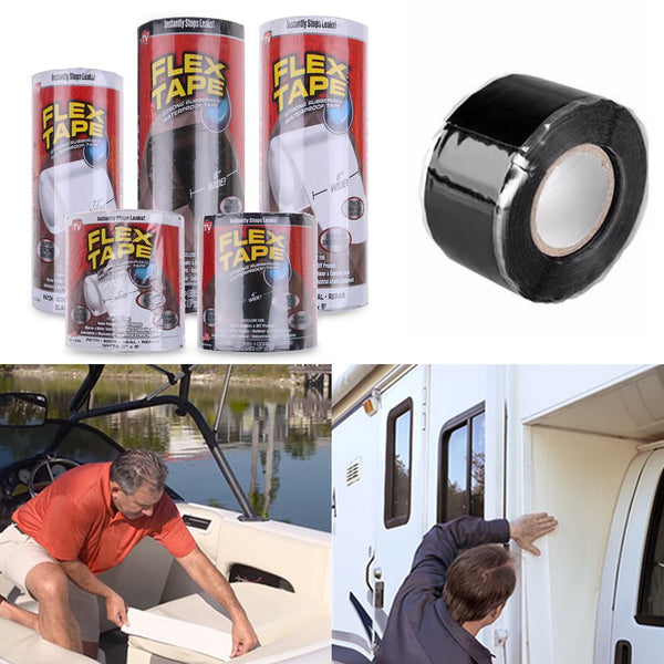 Flex Tape Super Strong Rubberized Waterproof Adhesive Sealant Patch Stop Leaks
