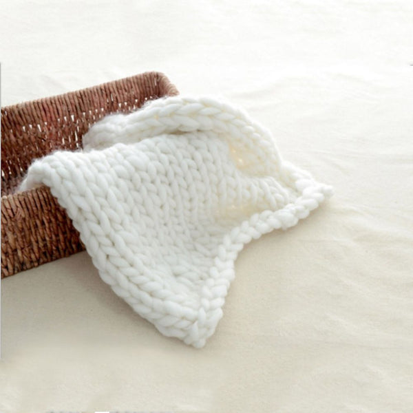 Soft Warm Hand Chunky Knit Blanket Thick Yarn Wool Bulky Bed Spread Throw