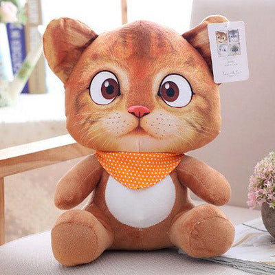 20cm Cute Soft 3D Simulation Stuffed Cat Toys Double-side Seat Sofa Pillow Cushion