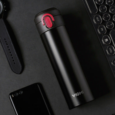 VIOMI 300ml Capacity Stainless Steel Vacuum Portable 24 Hours Thermos Single Hand ON Flask Water
