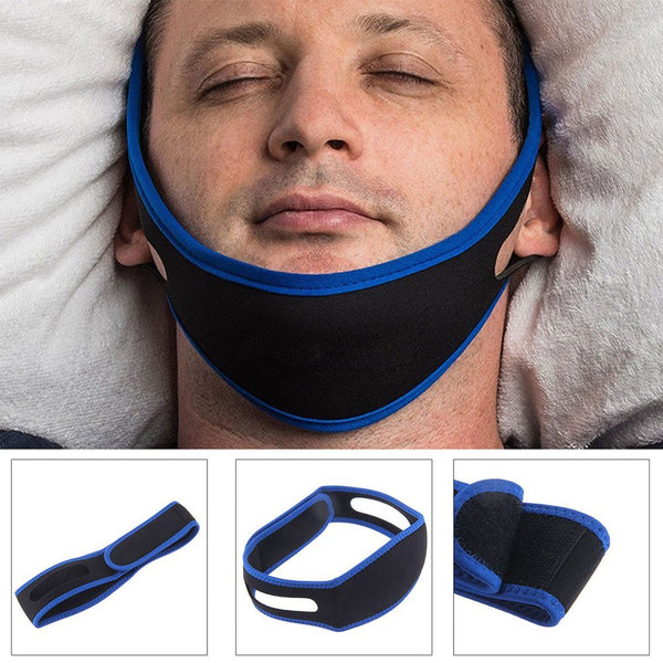Anti Snoring Chin Strap Belt Stop Snore Device Apnea Jaw Support Solution NEW