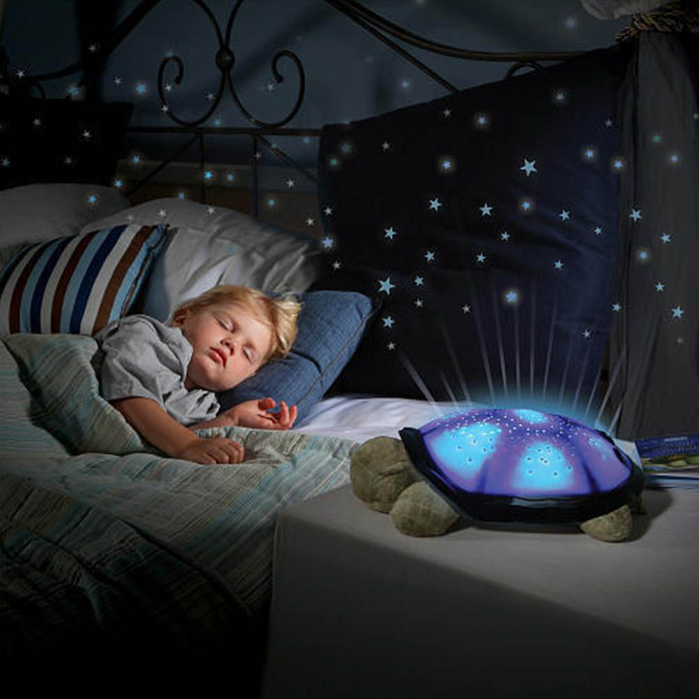 Turtle Night Light Star Sky Projection Lamp Musical LED Baby Kids Slee –  DomoSecret
