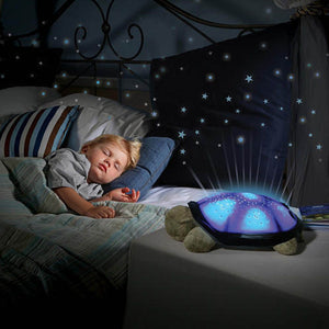 Turtle Night Light Star Sky Projection Lamp Musical LED Baby Kids Sleep
