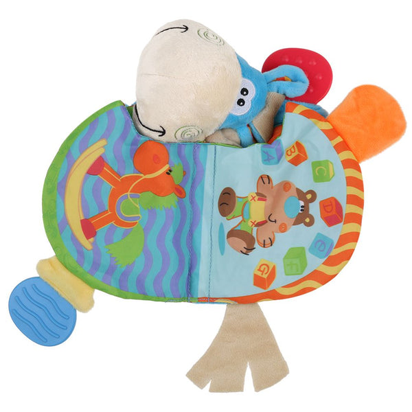 Newborn Baby Educational Cloth Book Intelligence Early Learning Donkey Toys