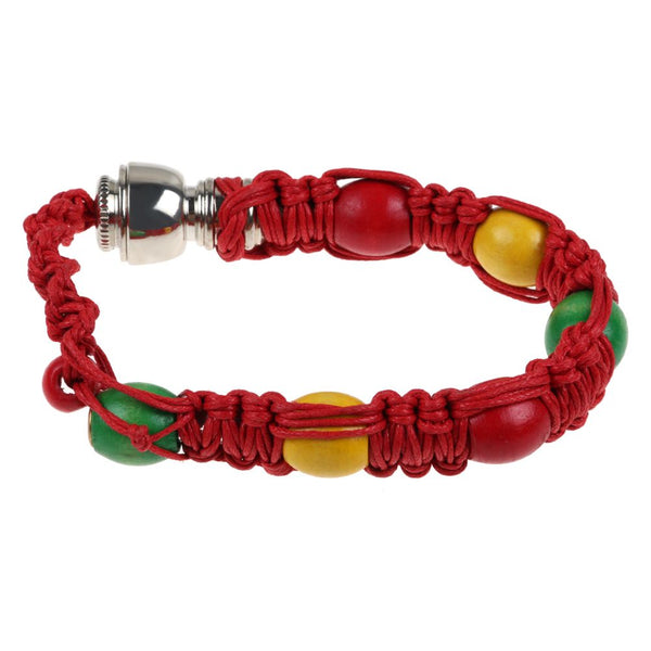Portable Metal Bracelet Smoking Pipe Jamaica Rasta Weed Smoke Cigarette Pipes
