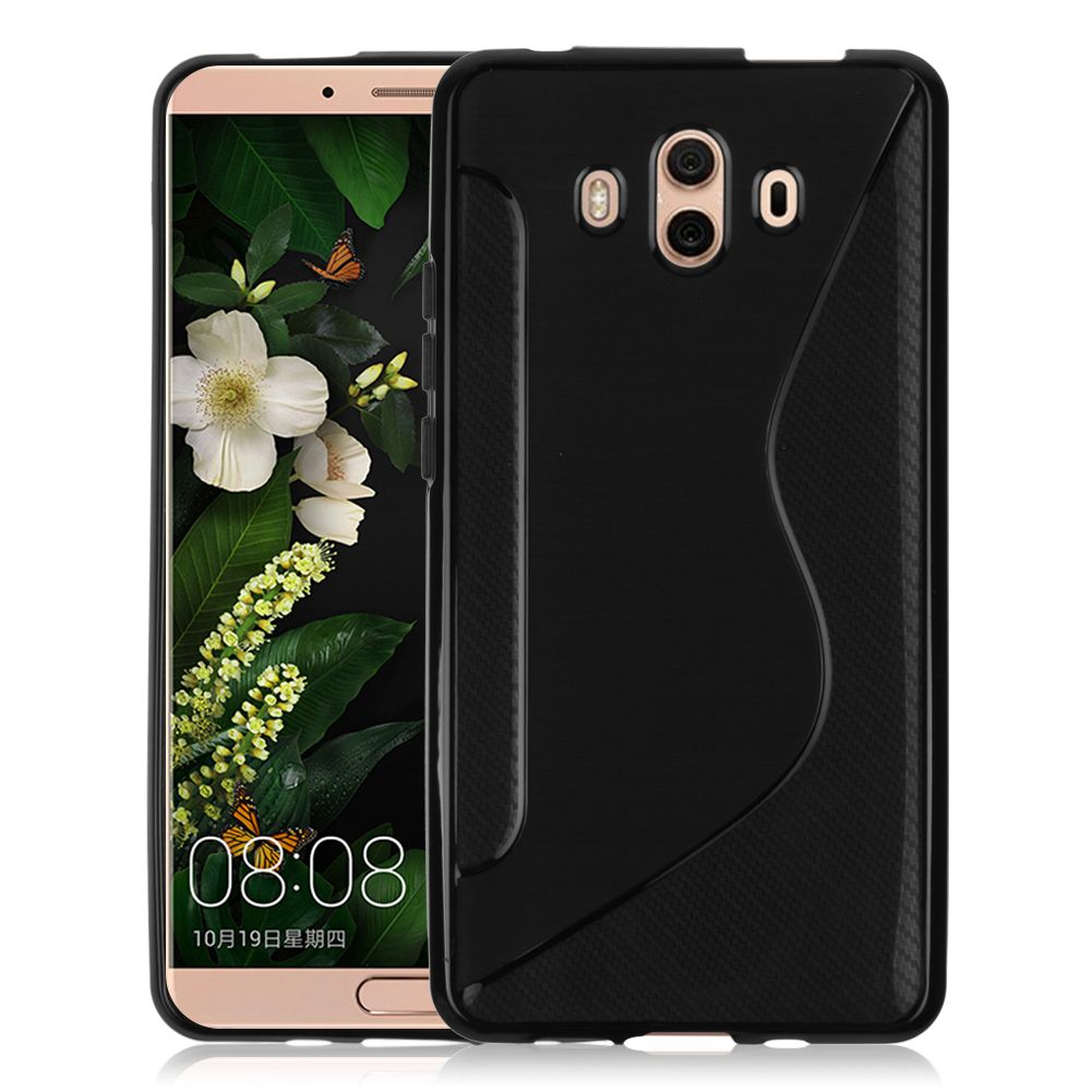 Ultra Thin S Line Wave TPU Rubber Back Cover Skin For Huawei Mate 10 Protective Shell