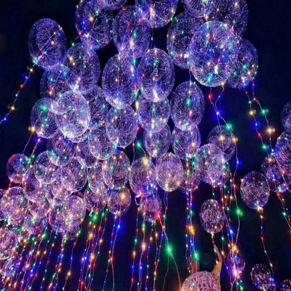 Clear Luminous Balloons the 20cm LED String Transparent Helium Balloon
